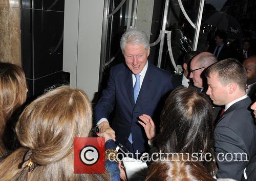 Bill Clinton Arriving At Claridge's