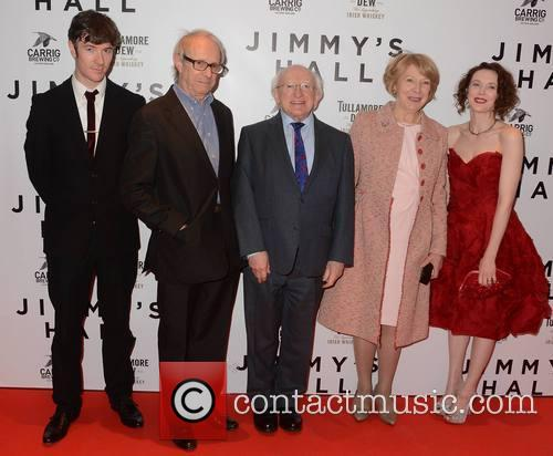 Barry Ward, Ken Loach, Michael D Higgins, Sabina Coyle and Simone Kirby