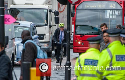 London mayor Boris Johnson joins Metropolitan Police officers...