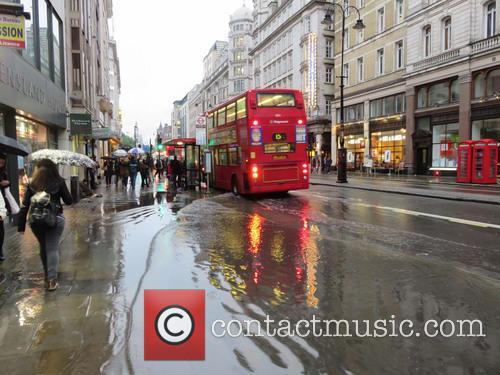 Heavy rain flooded The Strand