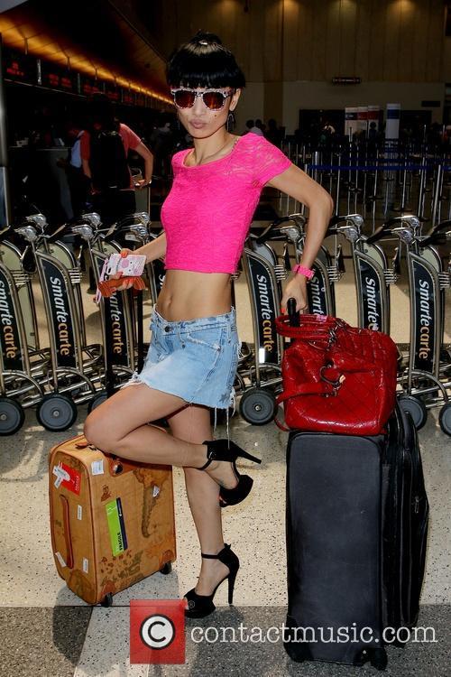 Bai Ling departing LAX Tom Bradley International Airport