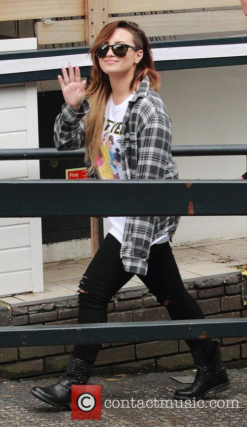 Demi Lovato At ITV Studios