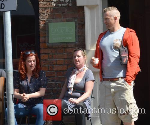 Jamie Heaslip seen enjoying a coffee