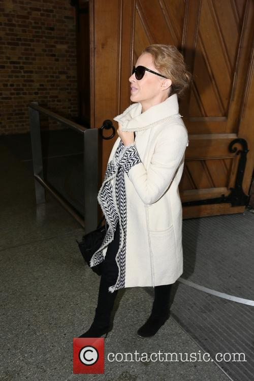 Kylie Minogue arrives St. Pancras station