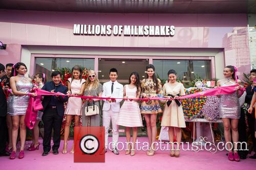 Paris Hilton, Zendaya Coleman, Xiaoming Huang, Angelababy, Angela Yeung and Monica Gabor