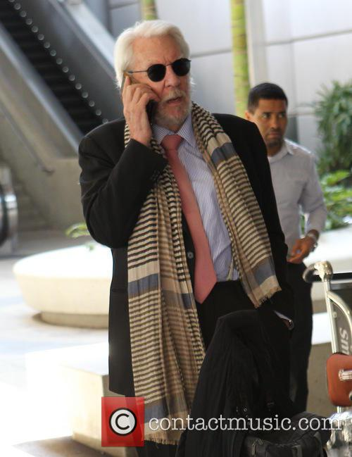 Donald Sutherland at LAX