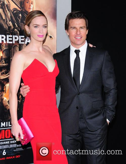 Emily Blunt and Tom Cruise 3