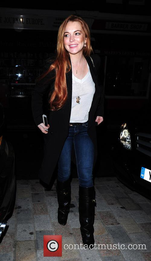 lindsay lohan celebrities at chiltern firehouse 4219152