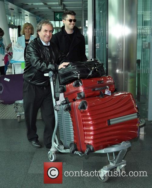 Rosanna Davison and Wesley Qiurke at Dublin Airport