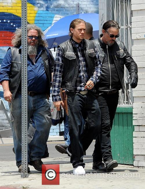 Charlie Hunnam, Tommy Flanagan and Mark Boone Junior
