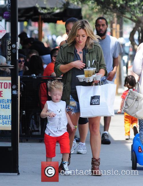 Hilary Duff and Luca Cruz Comrie 1