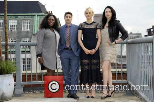 (l To R) Danielle Brooks, Jason Biggs, Taylor Schilling and Laura Prepon 1