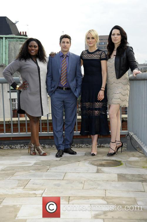 (l To R) Danielle Brooks, Jason Biggs, Taylor Schilling and Laura Prepon 3