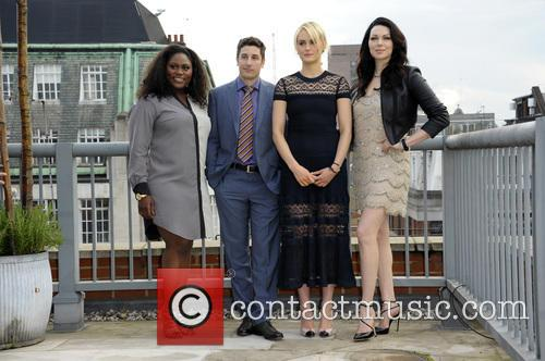 (L to R) Danielle Brooks, Jason Biggs, Taylor Schilling, Laura Prepon, Soho Hotel