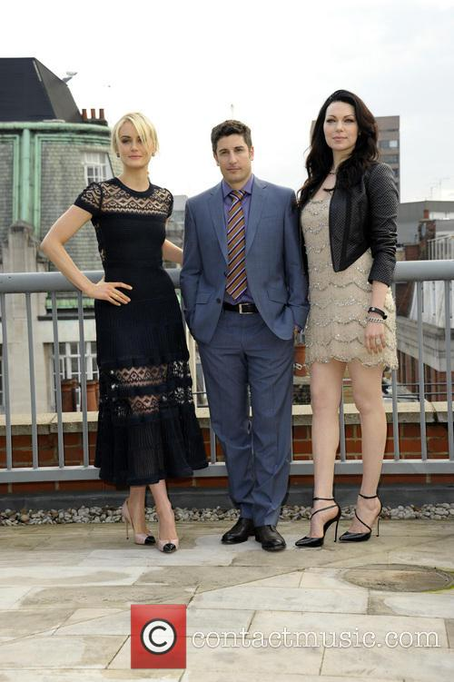 (L to R)  Jason Biggs, Taylor Schilling, Laura Prepon, Soho Hotel