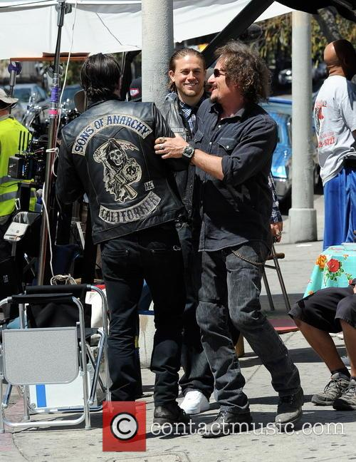 Charlie Hunnam, Kim Coates and Tommy Flanagan
