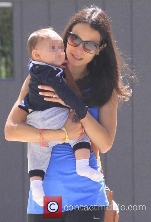 Jordana Brewster spotted out with her son Julian...