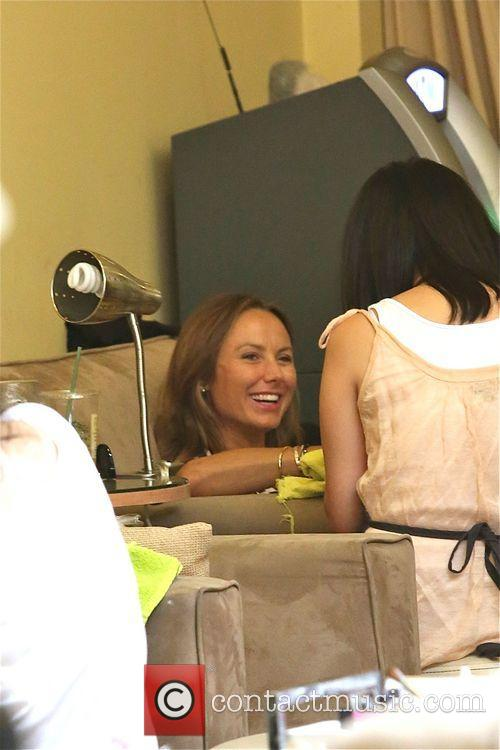 Stacy Keibler treats herself at Bellacures nail salon