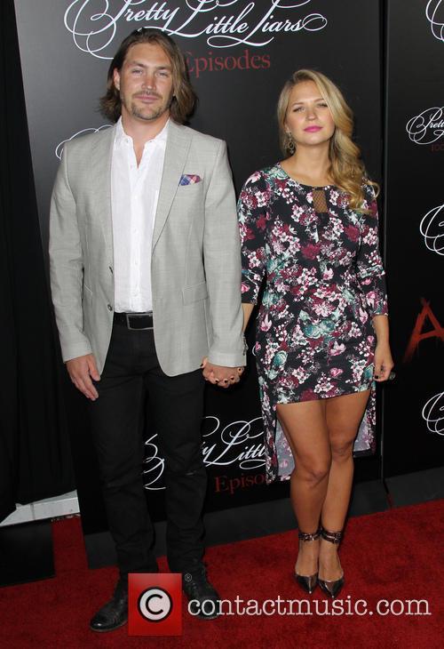 Vanessa Ray and Derek James