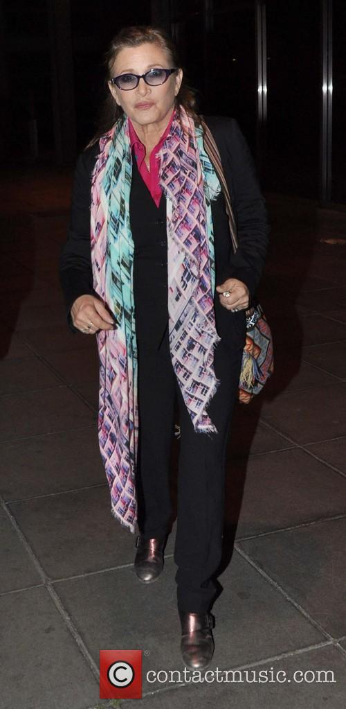 Carrie Fisher arrives at RTE Studios