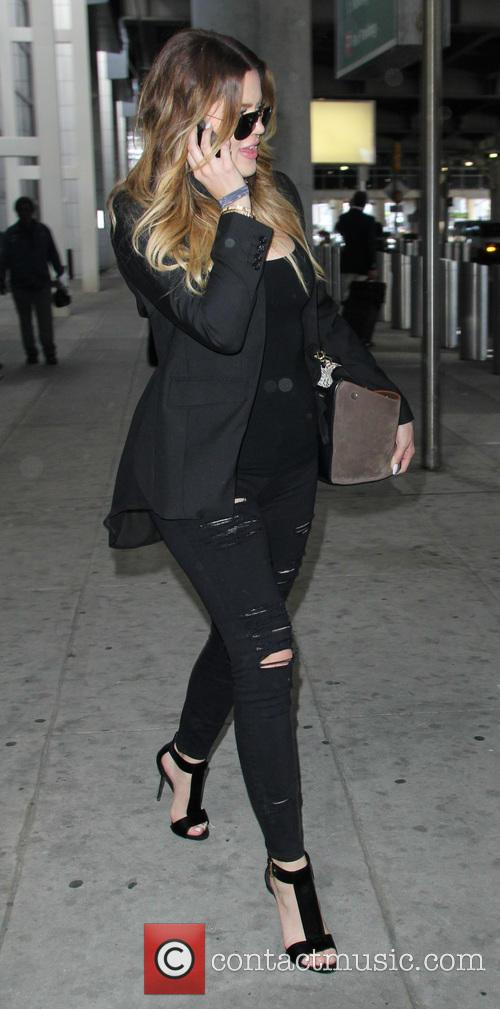 Khloe Kardashian arrives at John F. Kennedy International...