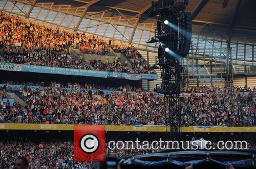 One Direction performs at City of Manchester Stadium