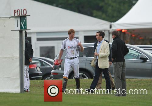 Princes William and Harry compete in the Audi...