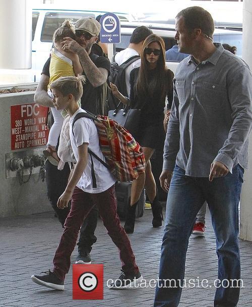 Harper Beckham, David Beckham, Victoria Beckham and Romeo Beckham 1