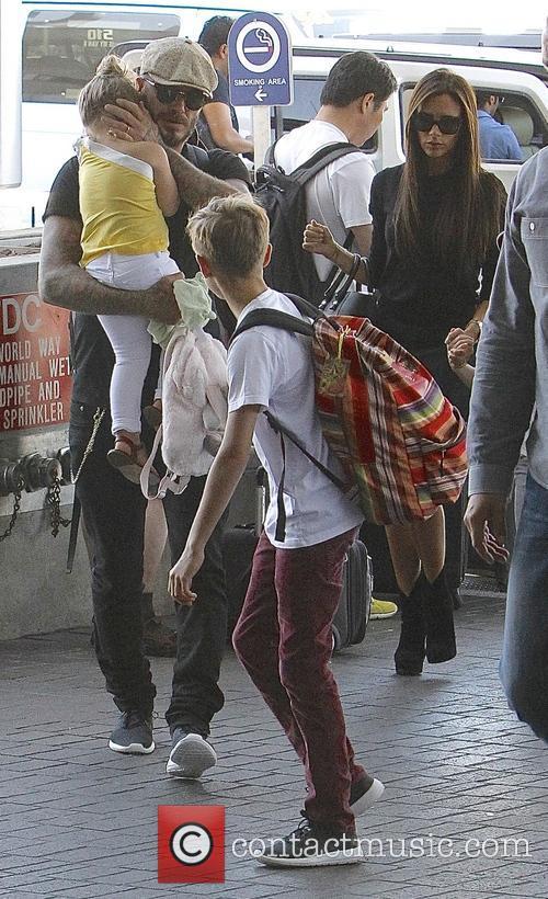Harper Beckham, David Beckham, Victoria Beckham and Romeo Beckham 3