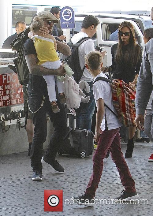 Harper Beckham, David Beckham, Victoria Beckham and Romeo Beckham 7