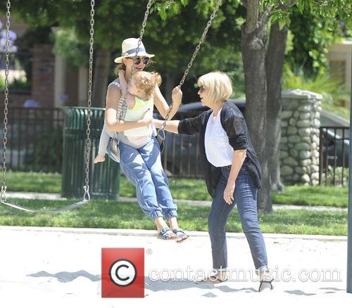 Jessica Alba enjoys a day at the park...