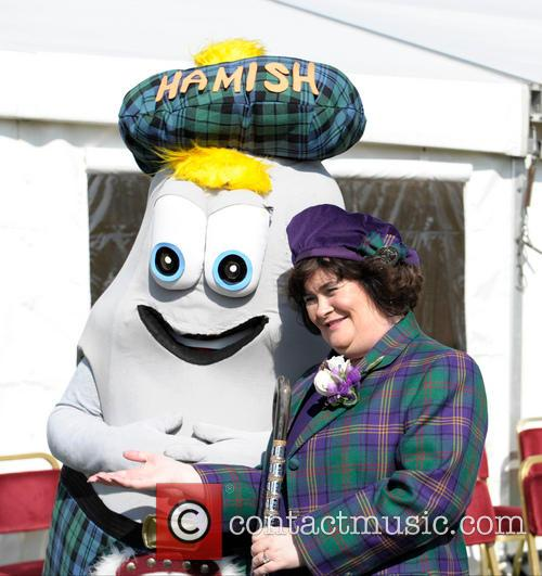 Susan Boyle is Chieftain of West Lothian Highland Games 2014
