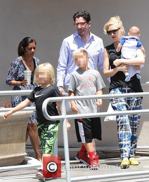 Gwen Stefani, Kingston Rossdale, Zuma Rossdale and Apollo Rossdale 2