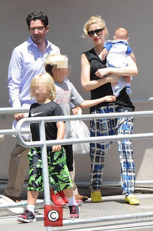 Gwen Stefani, Kingston Rossdale, Zuma Rossdale and Apollo Rossdale 5