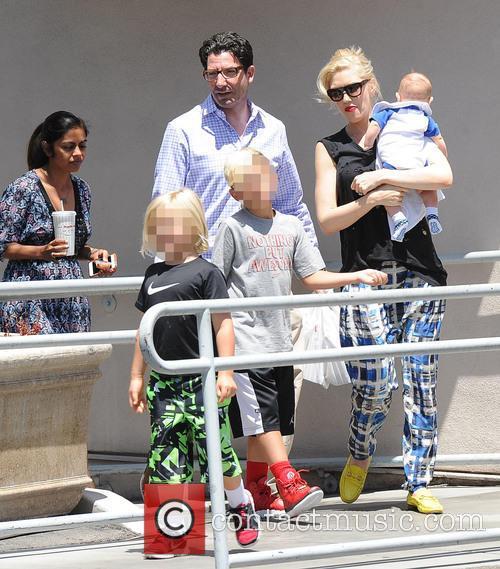 Gwen Stefani, Kingston Rossdale, Zuma Rossdale and Apollo Rossdale 6