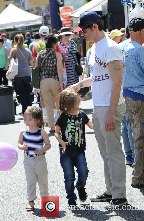 Johnny Knoxville spends time with his children at...