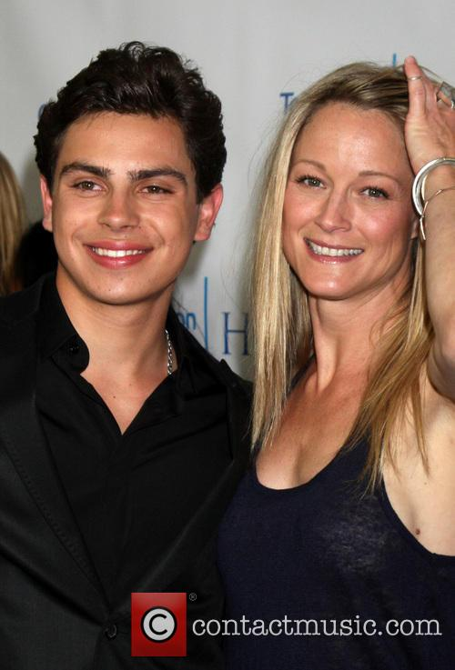 Jake T. Austin and Teri Polo