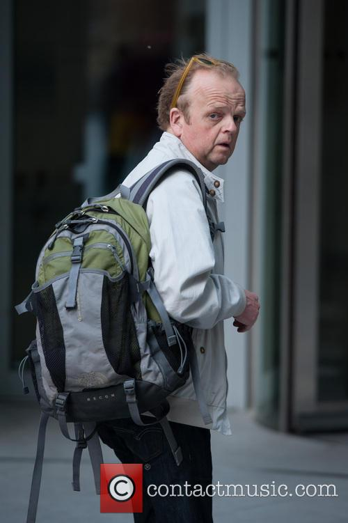 Toby Jones arriving at the BBC