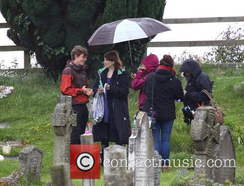 Broadchurch Filming featuring Jodie Whittaker in Clevedon UK