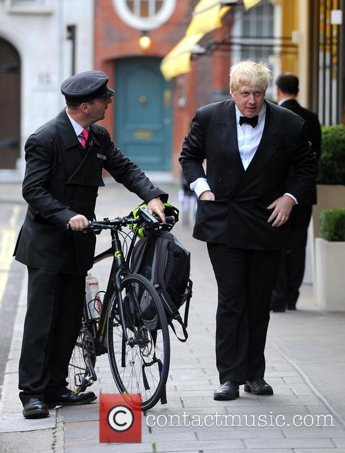 Boris Johnson At May Fair Hotel Riding A...
