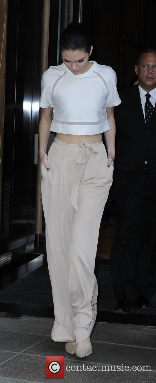 Kendall Jenner leaving her hotel