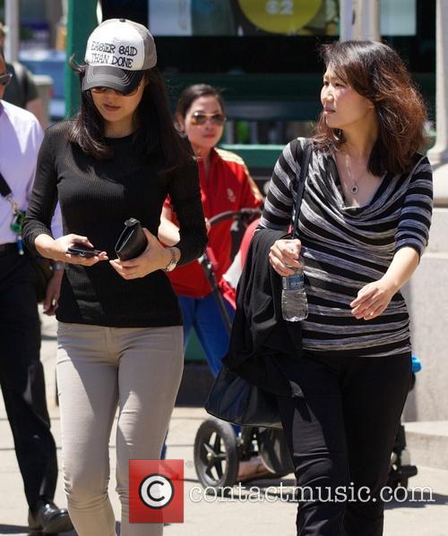 Yunjin Kim seen in Soho