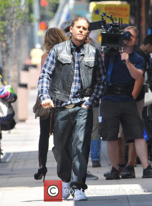 Filming on the set of 'Sons of Anarchy'