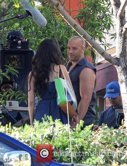 Vin Diesel and Jordana Brewster hug it out