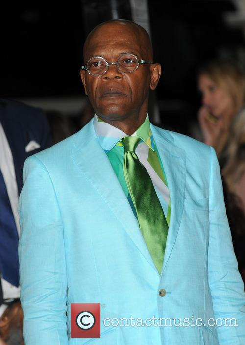 Samuel L Jackson at the Glamour Awards