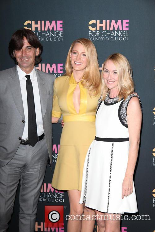 Blake Lively, (l-r) Gucci President, Ceo Patrizio Di Marco, Gucci Creative Director and Frida Giannini 6