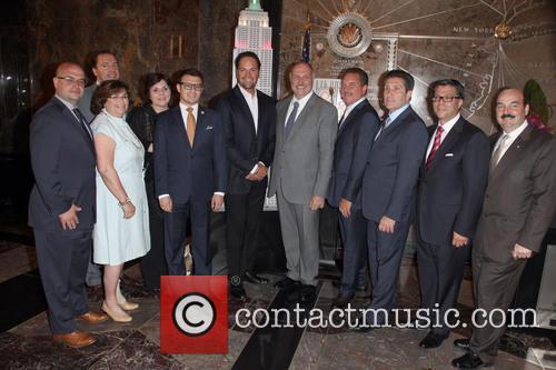 Mike Piazza, John Viloa, Board Members and Niaf 6