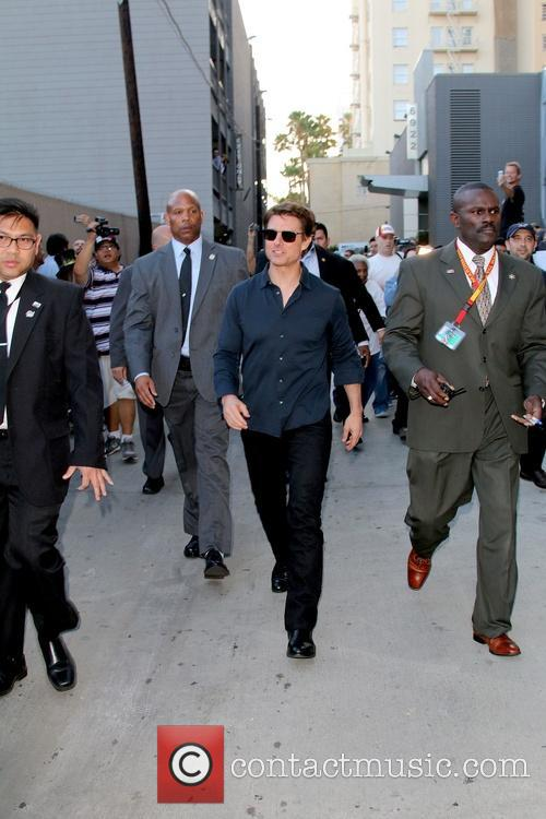 Tom Cruise arriving for the Jimmy Kimmel Live!
