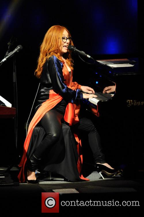 Tori Amos performing live in concert