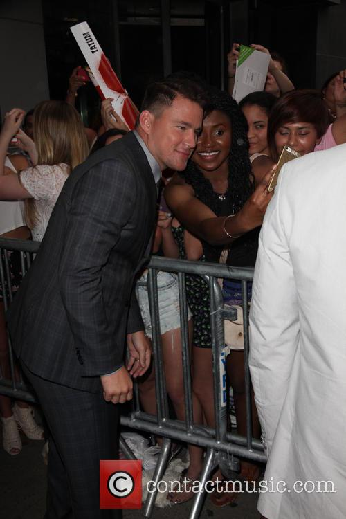 Channing Tatum and With His Fans 3